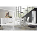 Diana narrow display cabinet in white gloss