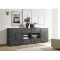 Diana 241cm oxide finish sideboard with LED lights