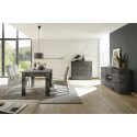 Diana 181cm sideboard in oxide finish with LED lights
