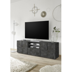 Diana 181cm TV Unit in oxide finish with LED lights