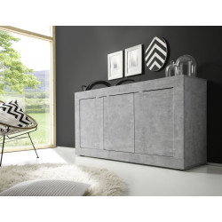 Dolcevita three door concrete finish sideboard