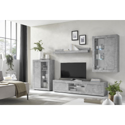 Dolcevita II concrete finish TV Stand