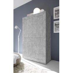 Dolcevita concrete finish storage cabinet