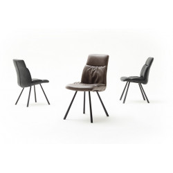 Oxford dining chair with 4 steel legs
