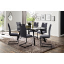 Omaha extendable dining table in grey finish