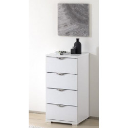 Rubin narrow assembled 4 drawers chest