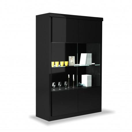 Spirit wide display cabinet with led lights