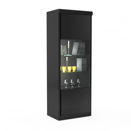 Spirit narrow display cabinet with led lights