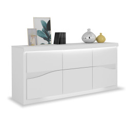 Spirit 220cm white gloss sideboard with led lights