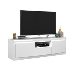Spirit 160cm white gloss TV stand with led lights