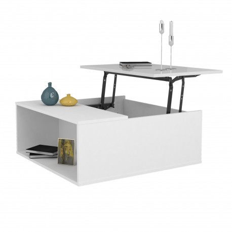 Spirit white gloss coffee table with lifting top