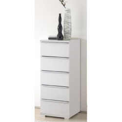 Rubin narrow assembled 5 drawers tallboy
