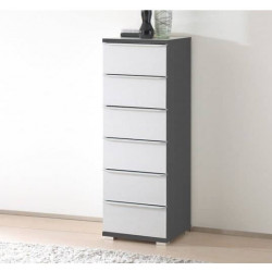 Rubin narrow assembled 6 drawers tallboy