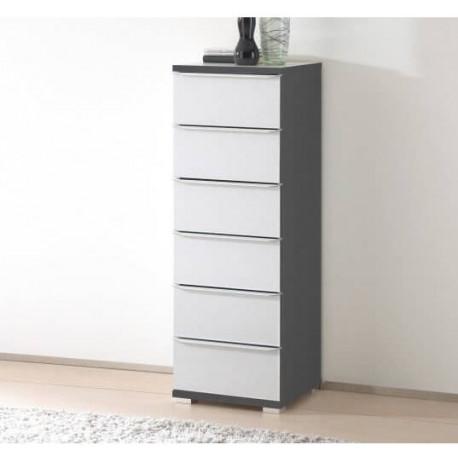 Rubin narrow assembled 6 drawers tallboy