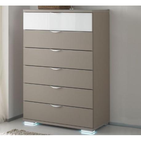 Rubin II assembled 6 drawers chest