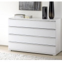 Rubin assembled wide chest with 4 drawers