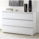 Rubin assembled wide chest with 3 drawers
