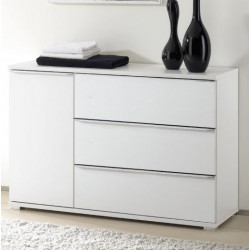 Rubin assembled combi chest with 3 drawers 1 door