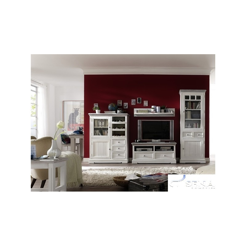 Otello solid wood display cabinet modern wood for Display home furniture