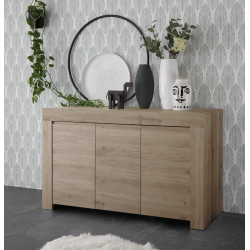 Arden three door modern sideboard in kadiz oak