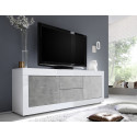 Dolcevita III white gloss and concrete TV Stand