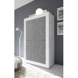 Dolcevita wide gloss and concrete cabinet