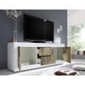 Dolcevita III white gloss and oak TV Stand