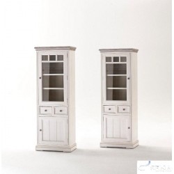Otello solid wood display cabinet