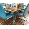 Aria bespoke blue resin dining table