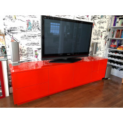Lago RED bespoke TV Unit series in various colours and sizes