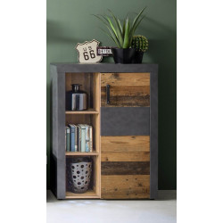 Indy small 87cm sideboard in old wood and grey matera finish