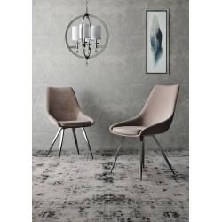 Lara - modern dining chair in velvet