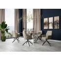 Zara- modern swivel dining chair in velvet finish