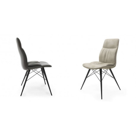 Oxa- modern dining chair in premium faux leather