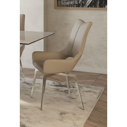 Modullo - swivel dining chair in premium faux leather
