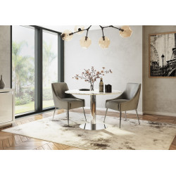 Noi 120cm marble top round dining table