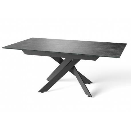 Lago II ceramic effect glass extendable dining table
