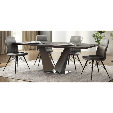 Rico ceramic tile top extendable dining table