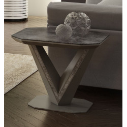 Rico II ceramic tile top side table