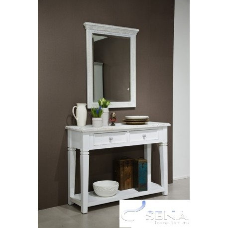 Otello console table with mirror