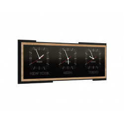 Corino horizontal triple clock