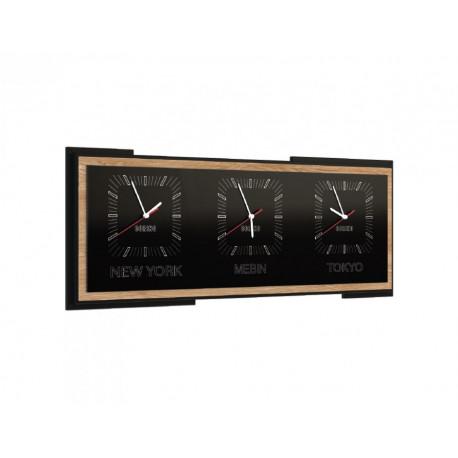 Corino horizontal triple clock