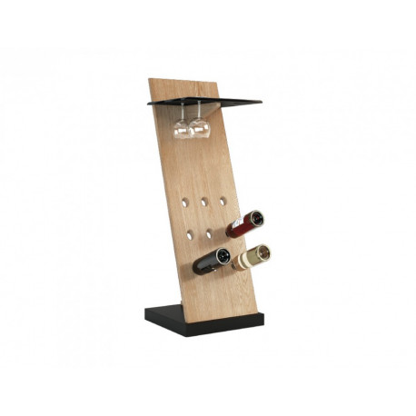 Corino functional stand for wine bottles and glasses