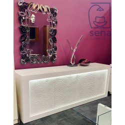 Samba assembled large white gloss sideboard with led lights
