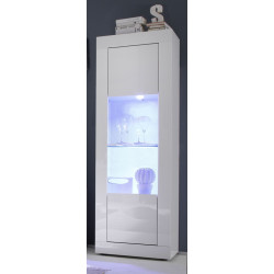 Dolcevita narrow display cabinet in high gloss