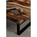 Aria V bespoke walnut and resin coffee table