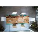 Island bespoke resin dining table