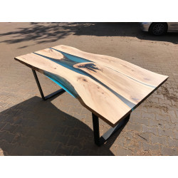 Island II bespoke resin dining table