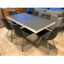 Breeze - glass topped extendable dining table