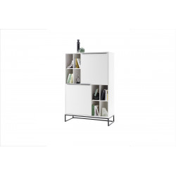 Dakar white matt lacquered highboard